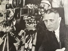 "Erich von Stroheim, with Bill Daniels & Ben Reynolds, the first day's shooting on ""Greed"""