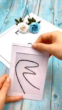 Cool Paper Crafts, Paper Crafts Origami, Diy Crafts For Gifts, Diy Home Crafts, Creative Crafts, Crafts For Kids, Diy Origami Cards, Origami Art, Cards Diy