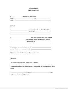 Get High Quality Printable Encroachment - Overhanging Eaves Form. Real Estate Contract, Real Estate Forms, Online Real Estate, Letter Form, Letter Sample, Notes Template, Letter Templates, Contractor Contract, Blank Form