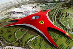 "Dubbed as ""Middle East's Leading Tourist Attraction"", #Ferrari #World is a fun place to visit. The #amusement park has the world's fastest roller #coaster ride. This grand place has lot of shows stocked up to #entertain the visitors"