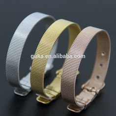 Fashion Gold Stainless Steel bracelet Adjustable Cable Wire Mesh Belt Buckle Bracelet