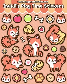 Inukii's Play Time Stickers by MoogleGurl.deviantart.com on @DeviantArt