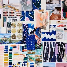 Best mood board ever! As seen in the studio of textile designer @cassbyrnes who we featured on TDF today