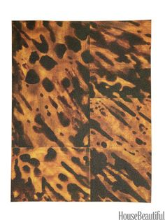 Faux Tortoise Shell Peel-and-Stick Wallpaper. housebeautiful.com. #tortoiseshell #wallpaper