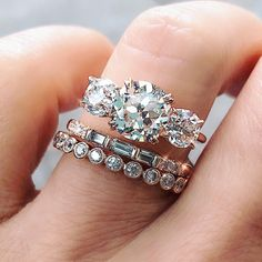 19ce86f07b3a7a More ideas from Trabert Goldsmiths. Trinity Ring, Ring Set, Diamond Are A  Girls Best Friend, Stacking Rings,