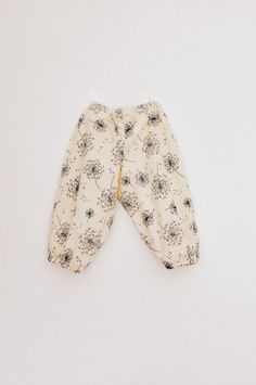 Baby girls dandelion print light cotton baggy bloomer type summer trousers pants 1-2 yrs