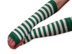 Private Island Party  - St Patrick's / Holiday Green White Striped Armwarmers 5201, $1.85 - $6.95     Premium felt green Derby hat with a green hatband good for celebrating St. Patricks Day. This green derby hat is very cute and a little touch of green to spice of your St. Patricks Day attire!