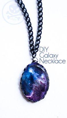 Galaxy Kette #necklace #diy #galaxyprint #galaxy