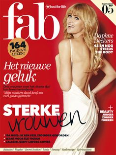 Daphne Deckers on the Cover of Fab Magazine Netherlands.