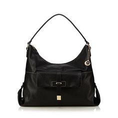The Collection Black front pocket detail shoulder bag | Debenhams