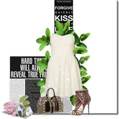 Sin título #409 by mariangel181 on Polyvore featuring polyvore fashion style Vero Moda Jimmy Choo Gucci