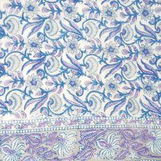 Indian patterns - block print floral -Quilted Cotton Eiderdown - Single Bedspread - Kasakosa Home Decor