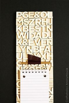 Craftaholics Anonymous® | DIY this project for something fun to do. Love the graphic idea of a memo board.