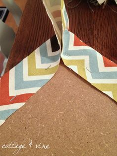 cottage and vine: How To Re-Cover a Dining Room Chair
