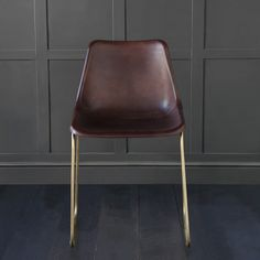 Deluxe Road House Industrial Dining Chair With Tobacco Coloured