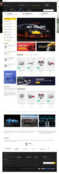 Ap Adela is modern and flexible Shopify Theme for multipurpose responsive #eCommerce #website with 10+ stunning homepage layouts. #automobile Download Now!