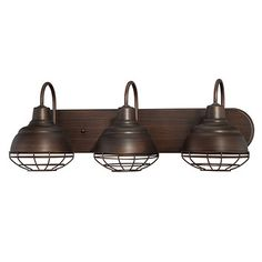 You'll love the Neo-Industrial 3 Light Vanity Light at Wayfair - Great Deals on all Lighting  products with Free Shipping on most stuff, even the big stuff.