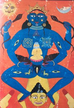 "noise-vs-signal:A series of ritual century Tantric paintings. All images are taken from ""Tantra: The Search for Ecstasy"" by Indra Sinha Indian Illustration, Illustration Sketches, Ancient Goddesses, Gods And Goddesses, Tantra, Indian Gods, Indian Art, Karma Sutra, Mother Goddess"