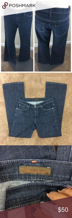 """James Cured By Seun Bootcut Jeans Dark washed denim jeans. EUC. Size 30. Inseam 32"""". James Cured by Seun Jeans Boot Cut"""