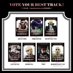 Vote for your favorite track in G-Dragon's 'One of a Kind' album