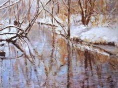 Original Landscape Painting by Ellen Fasthuber-huemer Oil On Canvas, Canvas Art, Original Paintings, Original Art, Photorealism, Winter Trees, Winter Snow, Buy Art, Saatchi Art