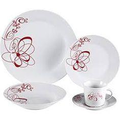 Aparelho de Jantar 20 Peças Porcelana Carlton Branco - World Collection