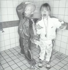 """This image depicts the """"gabber kids"""" phenomenon that resulted from the subculture developing into mainstream culture. Because of this, the gabber style became subsequently more common in multiple generations of Dutch children. Les Crane, Techno, Soft Matter, Dutch Netherlands, Soul Funk, Youth Culture, Creative Director, Funny Pictures, Childhood"""