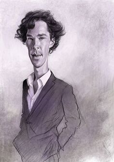 Benedict Cumberbatch by #Neil_Davies |  Caricature and portrait illustrator Self-employed in Swindon, United Kingdom | Personal and promotional work on #Behance