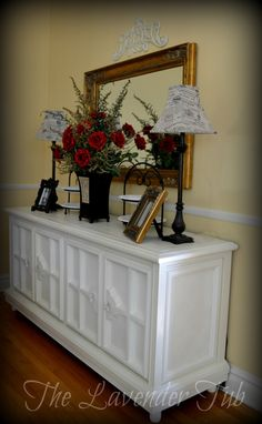 Old Stereo Console To Dining Sideboard
