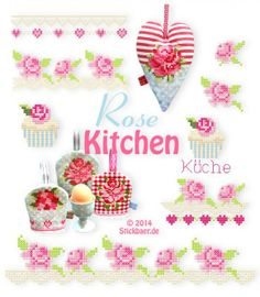 Rose Kitchen Machine embroidery Cross Stich designs