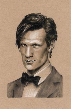 Matt Smith Dr. Who Copic Marker Art Illustration by *AllisonSohn on deviantART