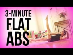 5 Minute Flat Abs! - YouTube