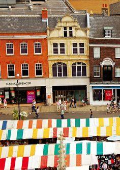 Colourful Market - Cambridge, England