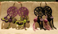 Pendientes en crochet https://www.facebook.com/photo.php?fbid=515178771893863&set=a.341691772575898.74197.200554666689610&type=3&theater