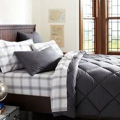 Solid Super Pouf Comforter + Sham #potterybarnteen