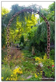 Welded Chain Garden Arch