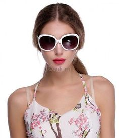 Women's Retro Sunglasses Classic Oversized Vintage Fashion Shades Multi-Color CC
