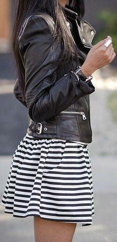 Nautical Stripes & Leather //