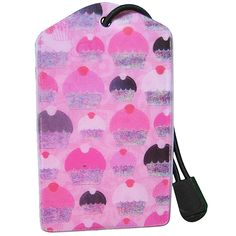 z Luggage Tag: Pink Cupcake Holographic Foil, Best Luggage, Luggage Accessories, Pink Cupcakes, You Bag, Pretty In Pink, Drawstring Backpack, Tags, Fun