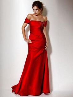 2013 Style A-line Off-the-shoulder  Beading  Sleeveless Floor-length Elastic Woven Satin Red Prom Dress _ Evening Dress. br_Product Name2013 Style A-line Off-the-shoulder  Beading  Sleeveless Floor-length Elastic Woven Satin Red Prom Dress _ Evening Dressbr_br_Weight2kgbr_br_ Start From1 Unitbr_br_ Hemline _ TrainFloor-length.. . See More A-line at http://www.ourgreatshop.com/A-line-C938.aspx