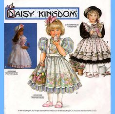 357 Simplicity 9925 Girls Dress with Attached by ladydiamond46