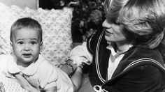 This photograph is one of the first in a set of images released of Princess Diana with a baby Prince William, taken at Kensington Palace, on the 22nd of December 1982.