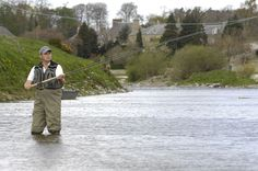 Junction Pool, River Tweed Fishing. World famous fishing spot in Kelso