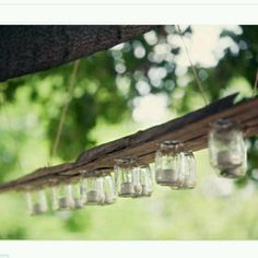 Mason jar 'chandelier'