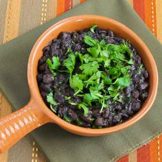 Slow Cooker Recipe for Black Beans with Cilantro (an easy side dish)
