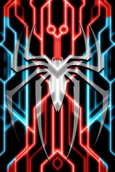 Spiderman Tron Suit background test 1 by KalEl7.deviantart.com on @DeviantArt