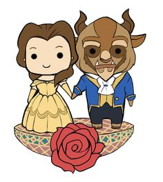 Beauty and the Beast Chibis by SaintBree