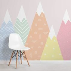 Cute Colorful Rainbow Wallpaper Mural   Hovia