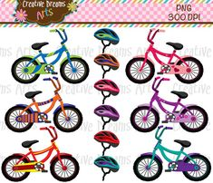 40% Off Bicycle Digital Clip Art Instant by CreativeDreamsArts