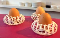 Shop for Accessories in the Shapeways printing marketplace. Find unique gifts and other personal designs in Shapeways For Your Home. Storing Eggs, 3d Printed Objects, Egg Holder, Egg Cups, 3d Printer, Art Pieces, Plates, Printing, Design